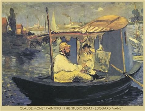 Manet Monet In His Studio Boat by Product Code Artg 1008
