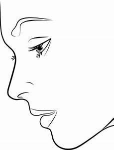 Free coloring pages of silhouette de femme