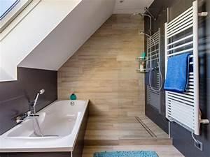 une salle de bains sous les combles With salle de bain dans combles