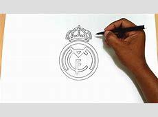 كيف رسم شعار نادي ريال مدريد YouTube