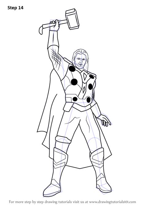 learn   draw thor thor step  step drawing tutorials