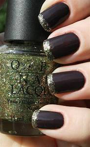 Black and gold nails | Lacquer | Pinterest