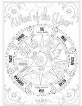 Coloring Pages Adult Shadows Printable Books Grimoire Witch Wiccan Magic Adults Colouring Wicca Astrology Shadow Sheets Follow Sabbats Astrological Magick sketch template