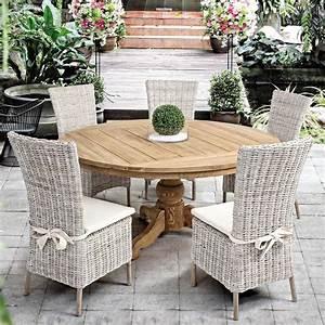 Table En Teck Jardin : bali table en teck avec plateau rond mesurant 160 cm de ~ Melissatoandfro.com Idées de Décoration