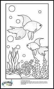 Goldfish Coloring Pages | Team colors