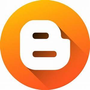 Blog, blogger, blogspot, circle, gradient, media, social ...