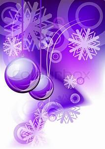 Christmas abstract background in purple color Stock
