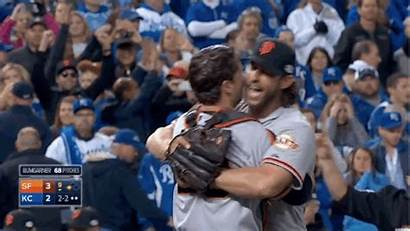 Madison Baseball Bumgarner Hug Giants Celebrations Learn