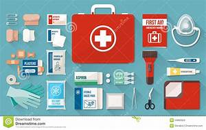 First Aid Kit Stock Vector  Illustration Of Bandage