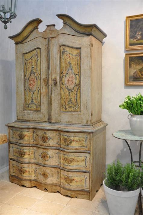 French Country Living Antiques  Italian Cabinet Painted