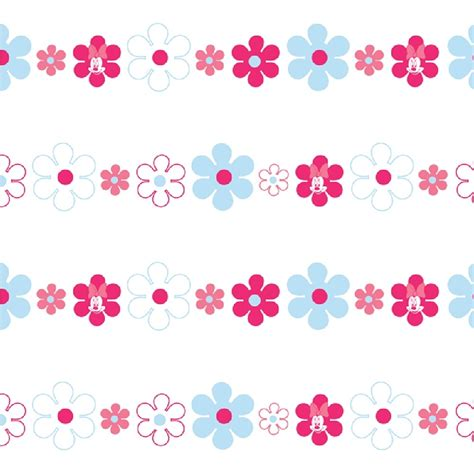 tile borders bathroom disney minnie mouse bows daisies pink blue childrens