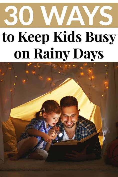 30 Ways To Keep Kids Busy On Rainy Days  Mommy Moment