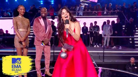 Camila Cabello Accepts Best Video Award Mtv Emas