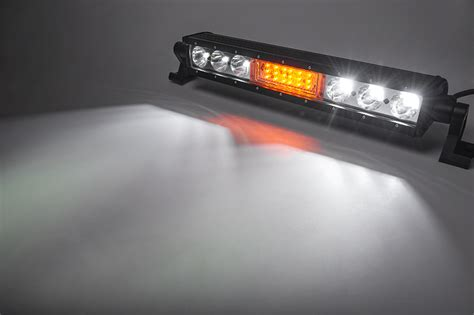 18 quot road led light bar w integrated led strobe