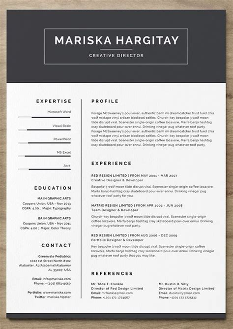 Free Modern Resume Builder by 24 More Free Resume Templates To Help You Land The