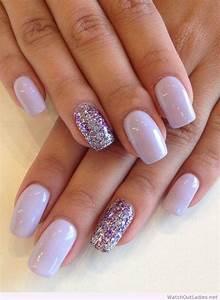 Purple gel nail art designs styling