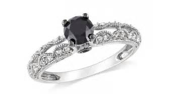 black wedding band with diamonds vintage black engagement rings ipunya