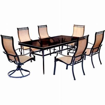 Dining Hanover Chairs Swivel Patio Glass Piece