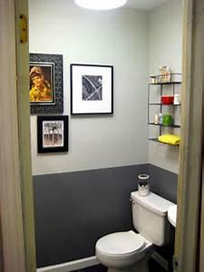 peinture wc gris anthracite et gris perle et touches jaune With couleur de peinture pour toilette 0 deco wc jaune