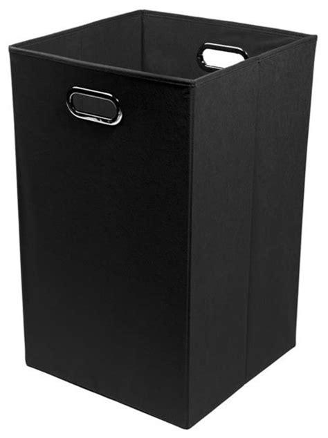 Smarty Pants Solid Black Folding Laundry Basket - Modern