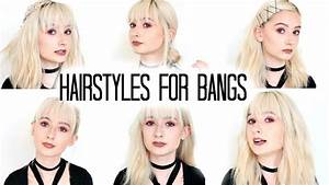 TUMBLR HAIRSTYLES FOR BANGS (NO HEAT) - YouTube