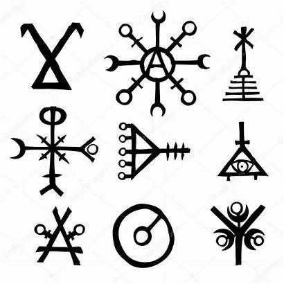 Viking Norse Symbol Island Futhark Vector Magic