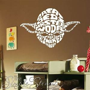 Words Of Yoda Star Wars Wall Quotes & Stencils | Decals ...