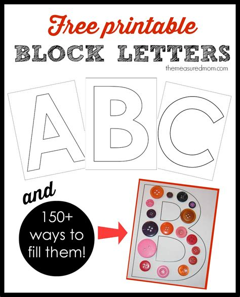 printable block letters    ways  fill