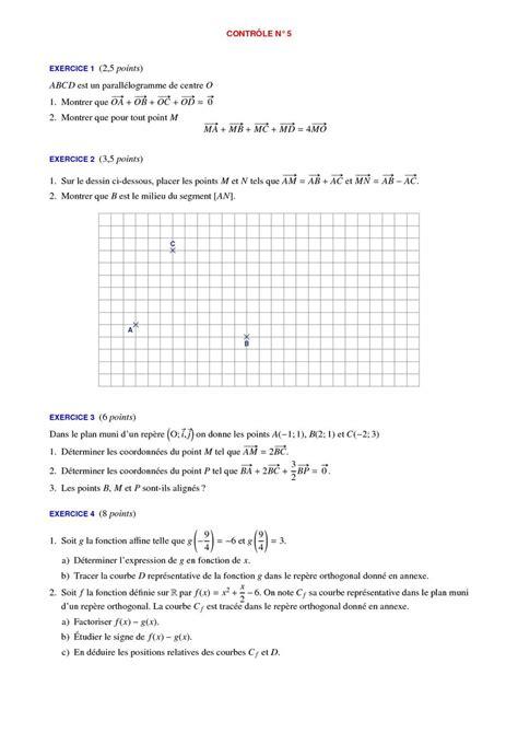 devoir maison maths seconde contr 244 les de maths 2de et devoirs surveill 233 s corrig 233 s en seconde