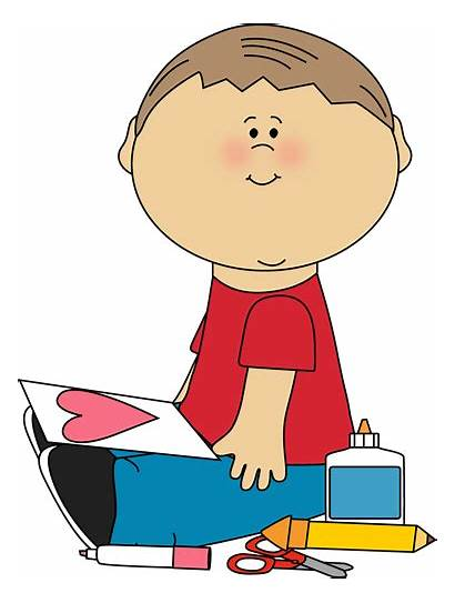 Valentine Clipart Boy Drawing Valentines Clip Child