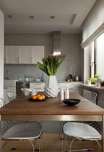 Graue Küche Welche Wandfarbe : welche wandfarbe f r k che 55 gute ideen und beispiele ~ Markanthonyermac.com Haus und Dekorationen