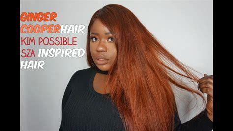 diy ginger hair kim  sza inspired hair color