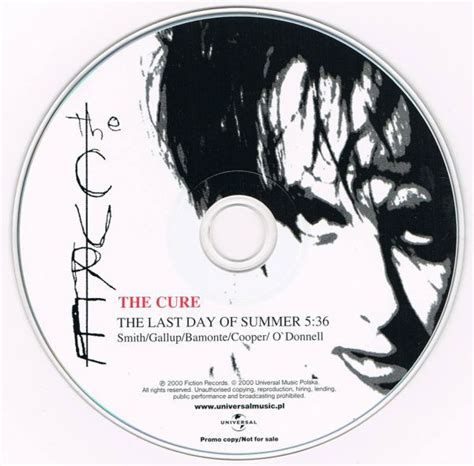 The Cure - The Last Day Of Summer (2000, CD) | Discogs