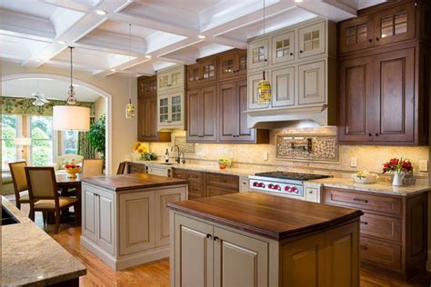 special paint for kitchen cabinets perimeter cabinets coffee cherry with black glaze summit 8187