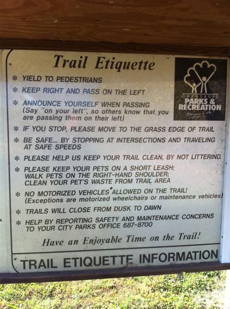 Bike trail etiquette tips
