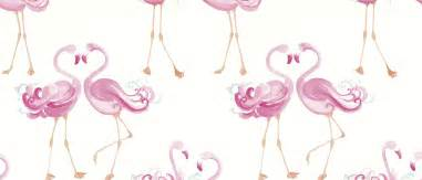 bedroom theme flamingo wallpaper