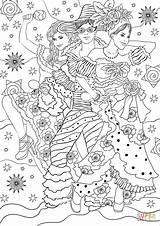 Coloring Carnival Pages Joyful Dance Printable Games sketch template