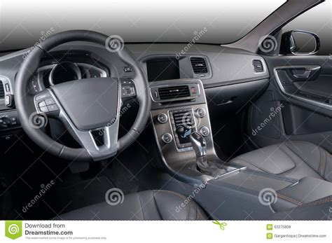 Black Luxury And Modern Car Interior Royalty-free Stock