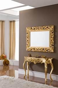 console dore bois filipe zd1 consol m d 009jpg With superb meuble entree avec miroir 5 le meuble console d entree complate le style de votre