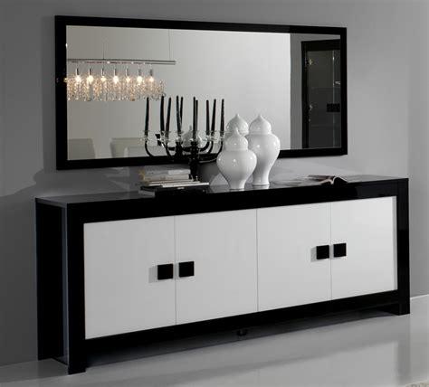 couleur chambres bahut 4 portes pisa laquée bicolore noir blanc noir blanc