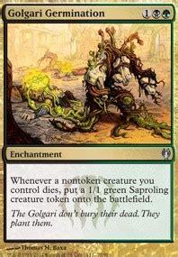Green White Token Deck Legacy by Golgari Germination Mtg Card