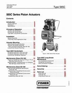 585c Actuator Manual Instruction Manual By Rmc Process