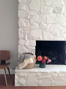 How, To, Painting, The, Stone, Fireplace, White