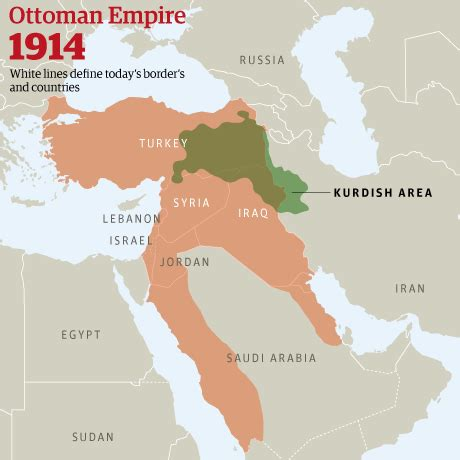 Map Of Ottoman Empire 1914 - world war 15 legacies still with us today