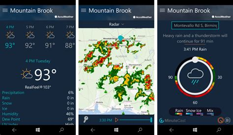 accuweather weather windows satellite radar future map app mobile apps imagery animated both covers information includes detailed data