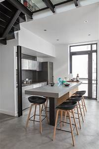 Bar D Appartement : appartement bar contemporary kitchen paris by felix millory architecture ~ Teatrodelosmanantiales.com Idées de Décoration