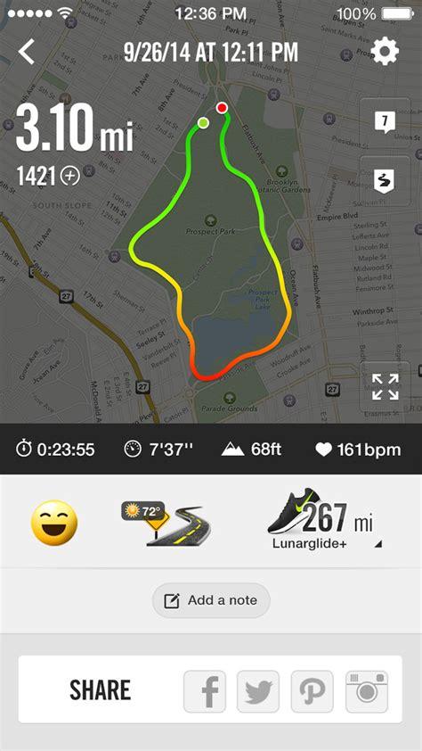 nike running app  elevation tracking apple health