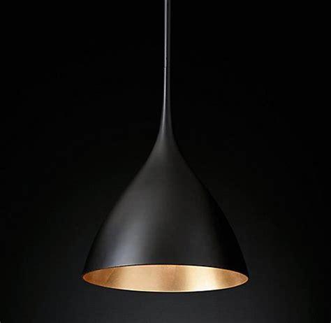 Rh Modern Bathroom Lighting agnes pendant matte black gilded rh modern lighting