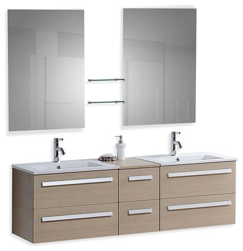 Modern Bathroom Sinks With Storage by Floating Bathroom Vanity With Sinks And
