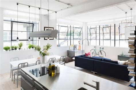 Converted Industrial Space Becomes A Pretty Apartment by Converted Industrial Space Becomes A Pretty Apartment